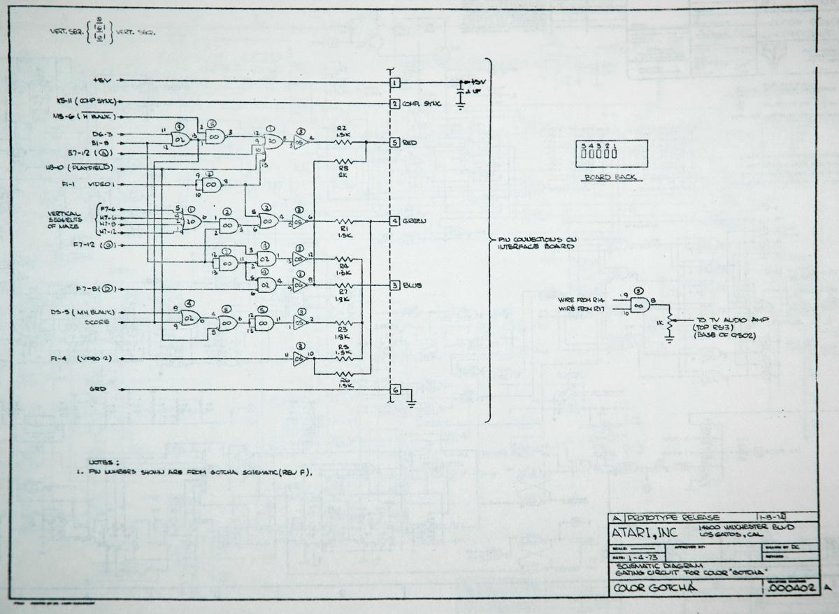 Fixing Color Gotcha Atari Wiring Diagram
